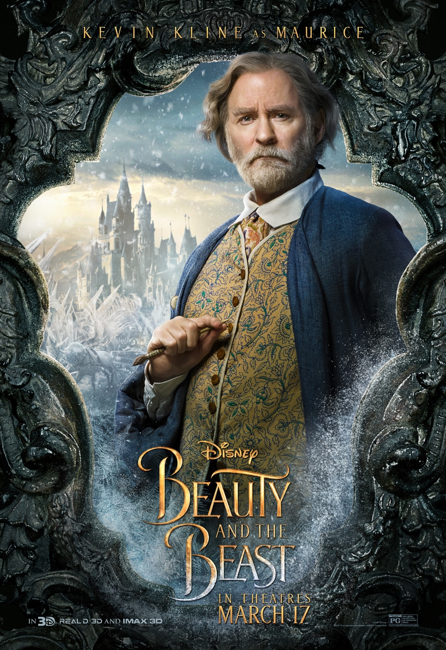 Beauty and the Beast Character Posters kevin kline maurice