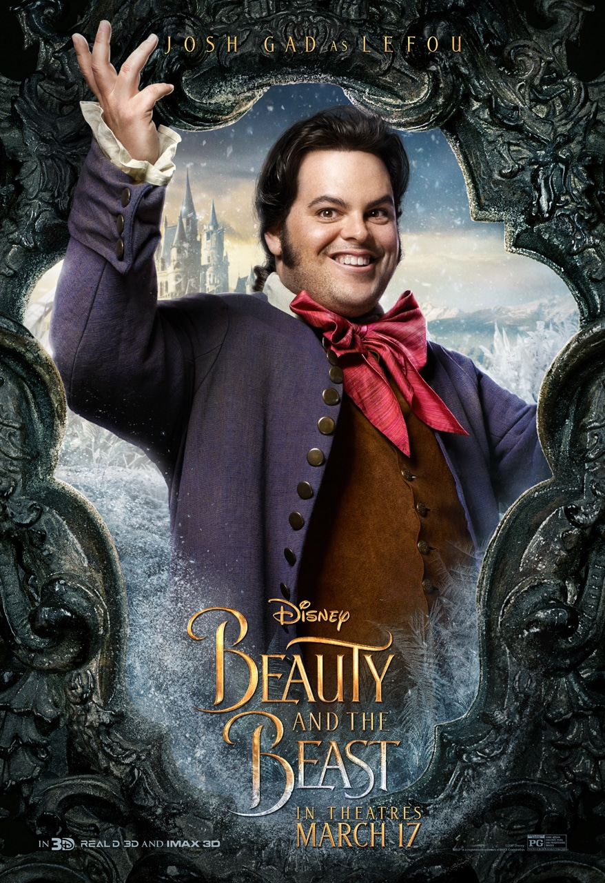 Beauty and the Beast Character Posters josh gad LeFou