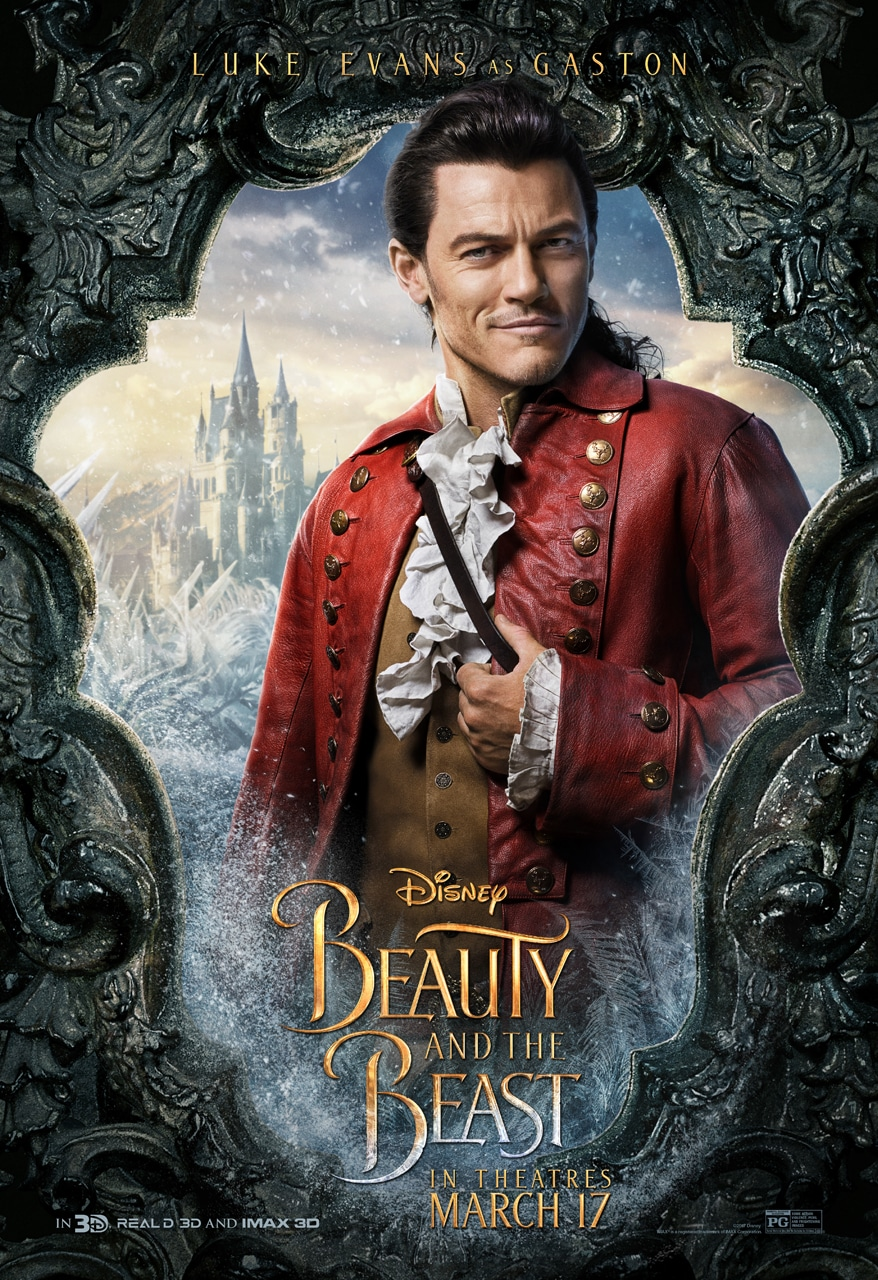 Beauty and the Beast Character Posters luke evans gaston