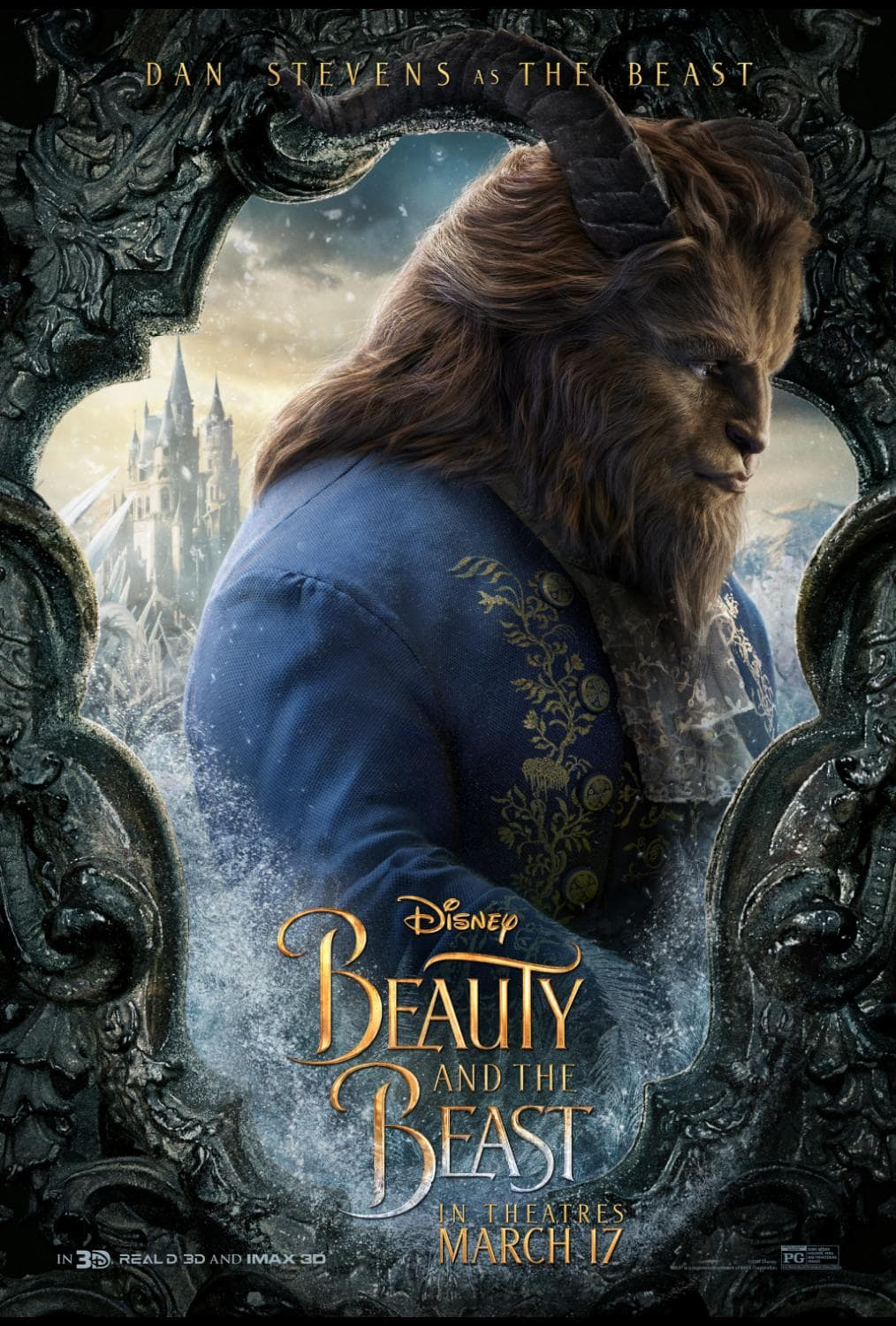 Beauty and the Beast Character Posters dan stevens the beast