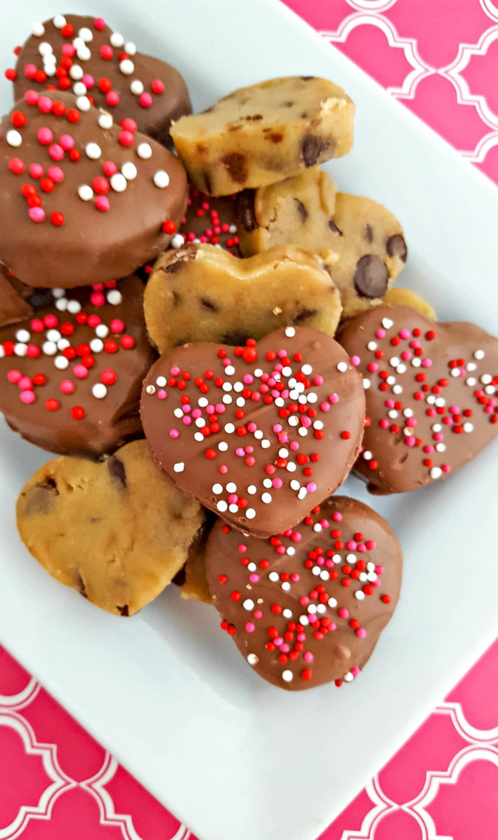 Chocolate Covered Cookie Dough Hearts Recipe