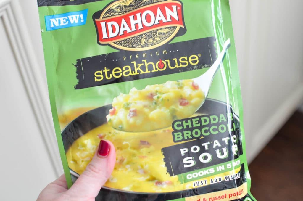 cheddar broccoli Idahoan premium steakhouse soup
