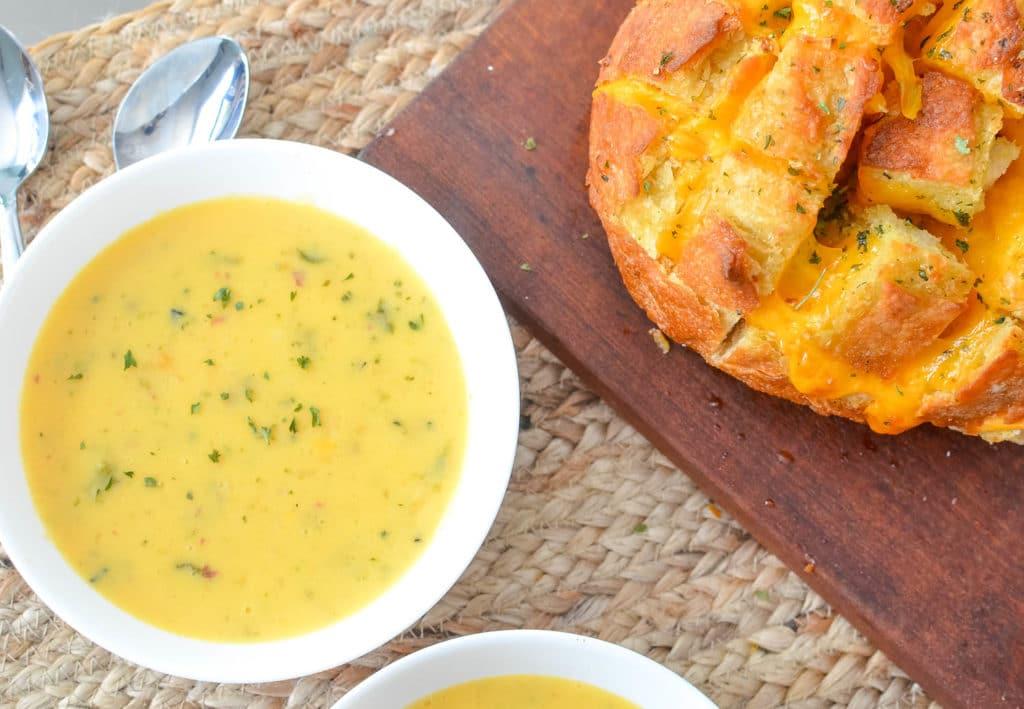 Idahoan Premium Steakhouse Potato Soups Cheesy Pull Apart Bread