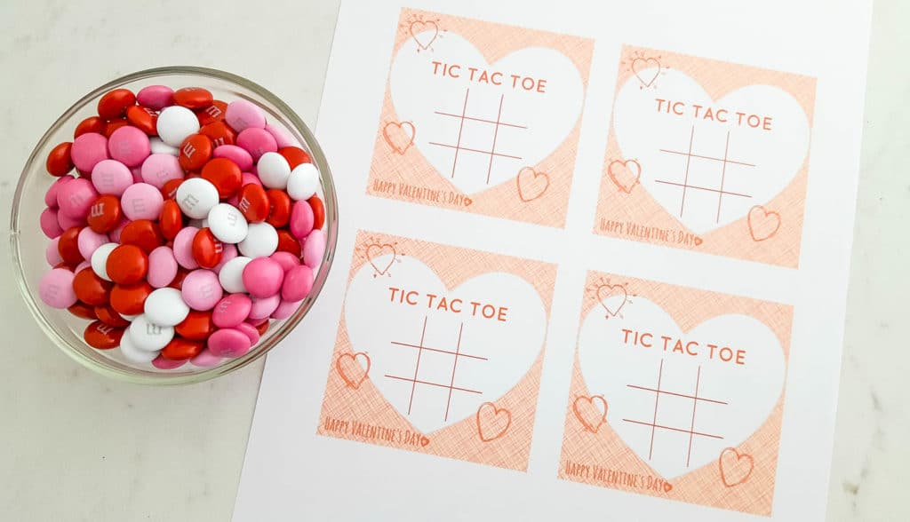 Free Printable Tic Tac Toe Valentines Cards