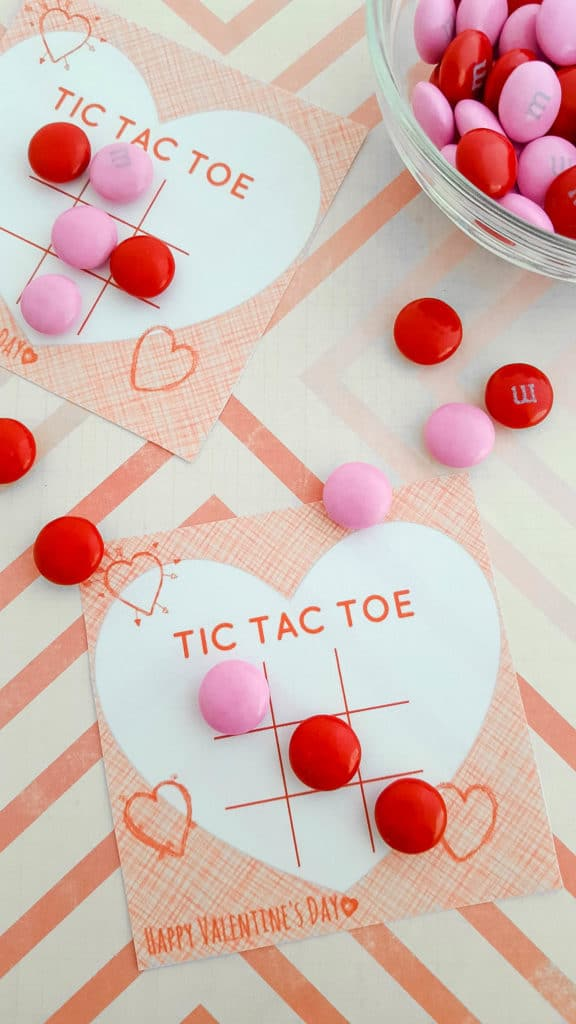 Slobbery image for tic tac toe valentine printable