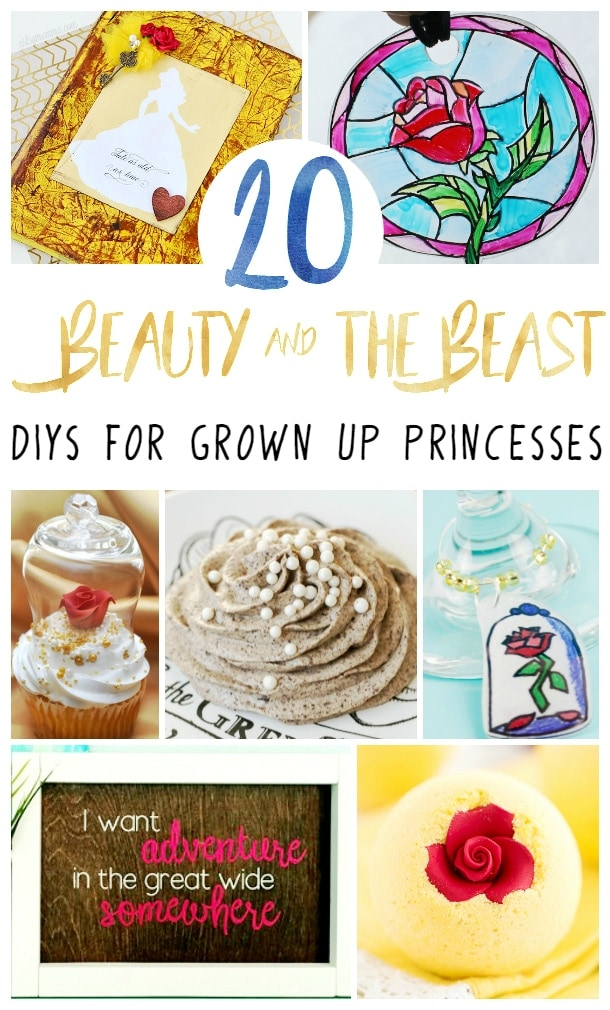 20 Beauty and the Beast DIY Crafts & Recipes for Grown Up Princesses