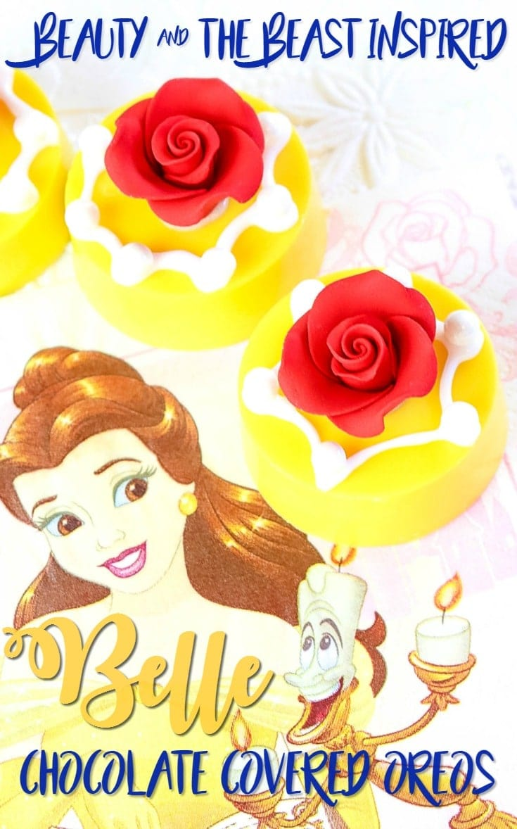 "Beauty and the Beast Inspired ""Princess Belle"" Chocolate Covered Oreos Recipe"