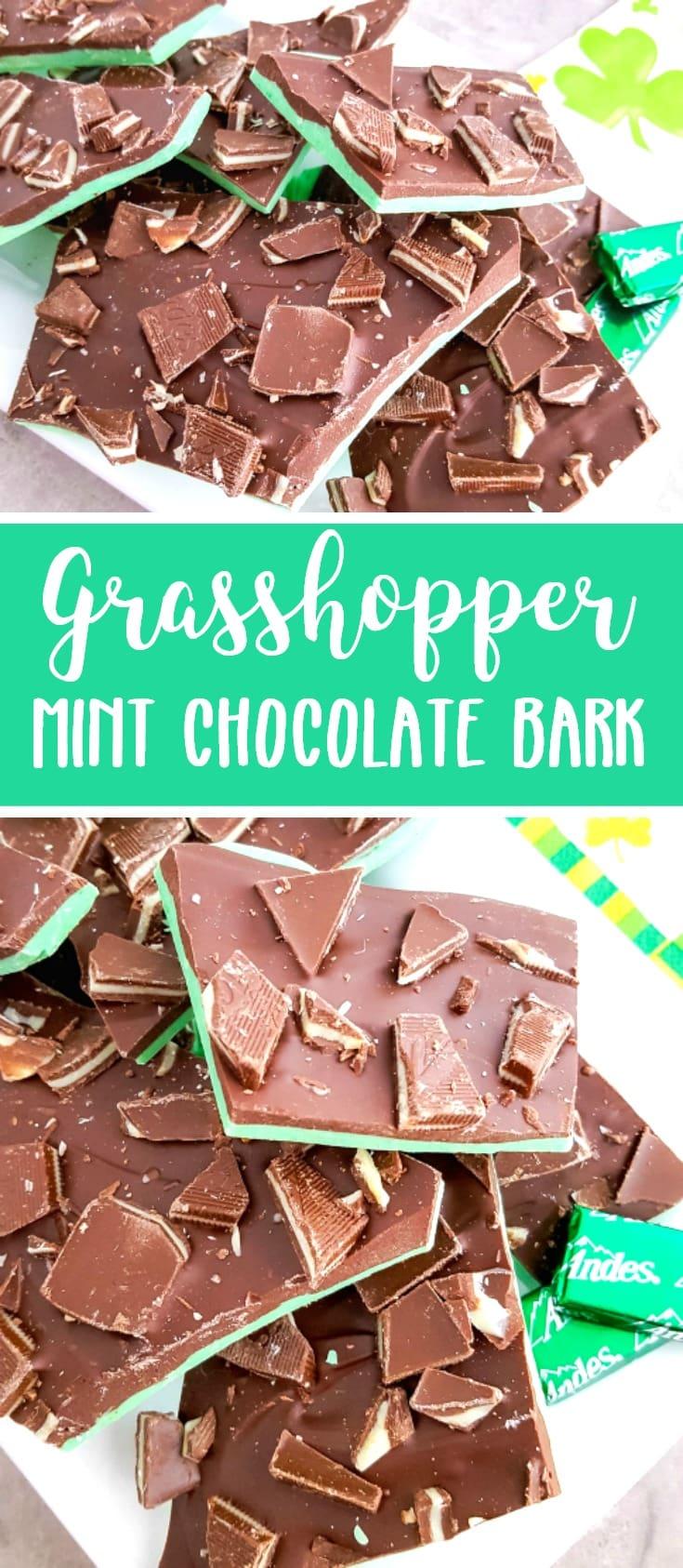 grasshopper mint chocolate bark recipe