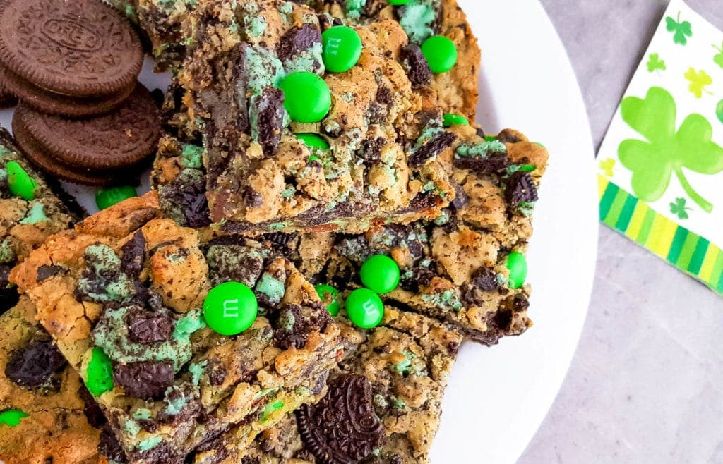 Mint Oreo Cookie Bars for St. Patrick's Day