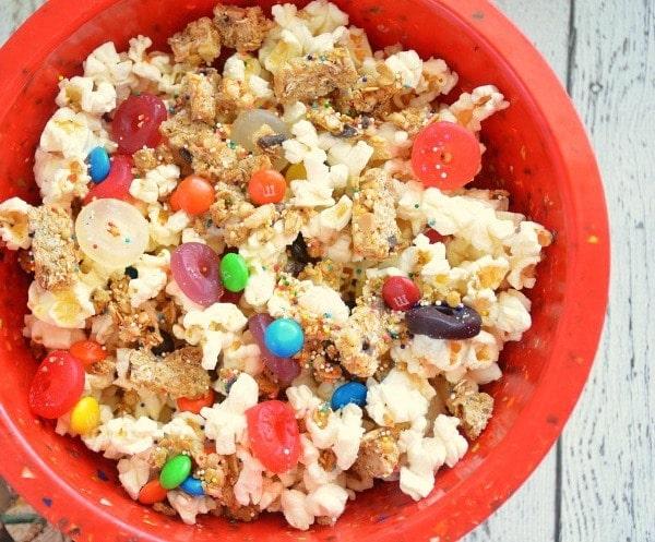 movie night candy popcorn mix