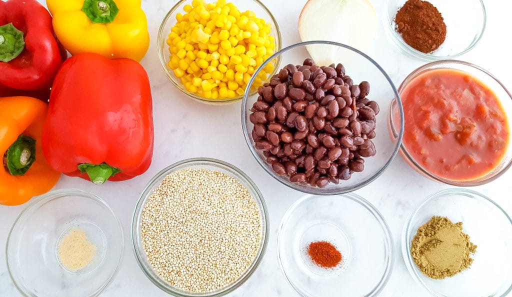 Mexican Black Bean & Quinoa Stuffed Peppers Recipe Ingredients