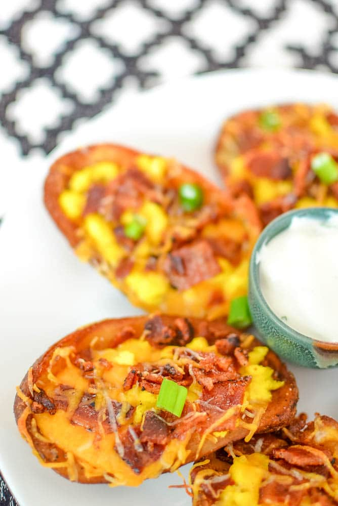 how to cook potato skins with cheese and bacon