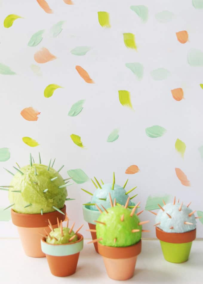 diy cactus toothpick craft