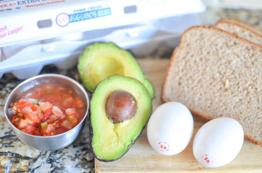 southwestern eggs in a basket ingredients