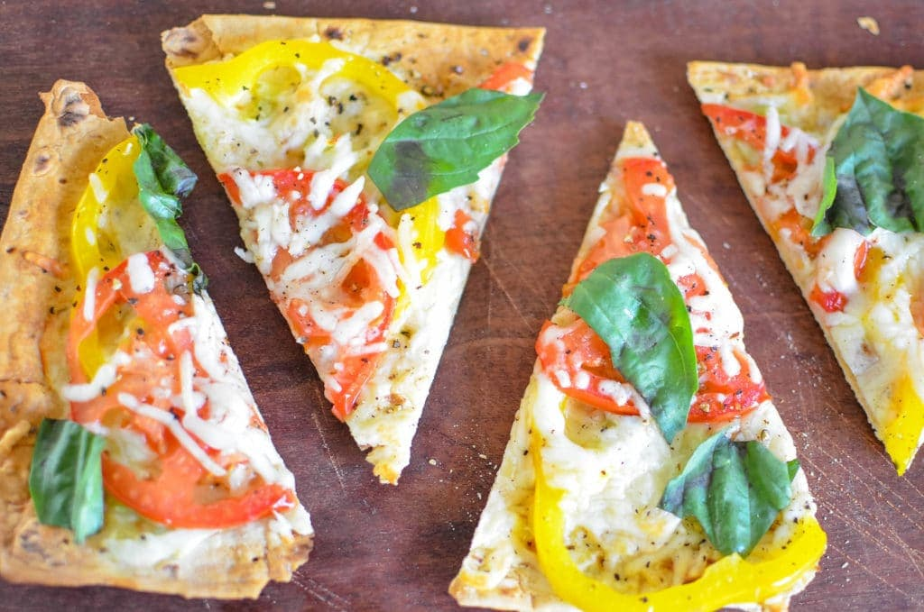 Flatbread with Tomatoes and Sweet Peppers