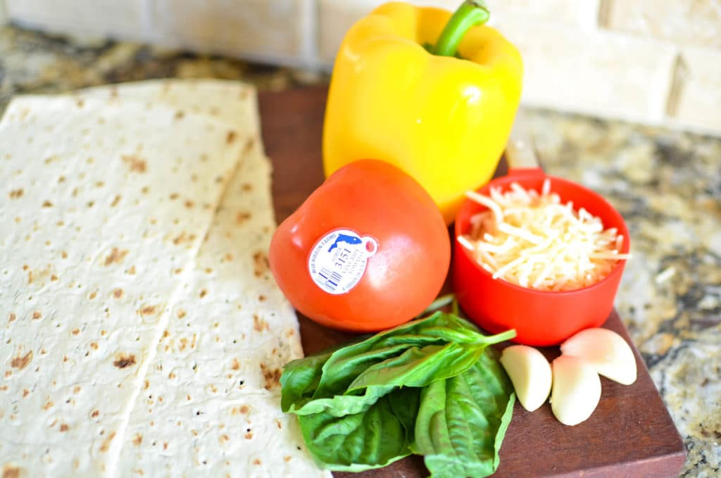 Fresh from Florida Flatbread with Tomatoes and Sweet Peppers Recipe