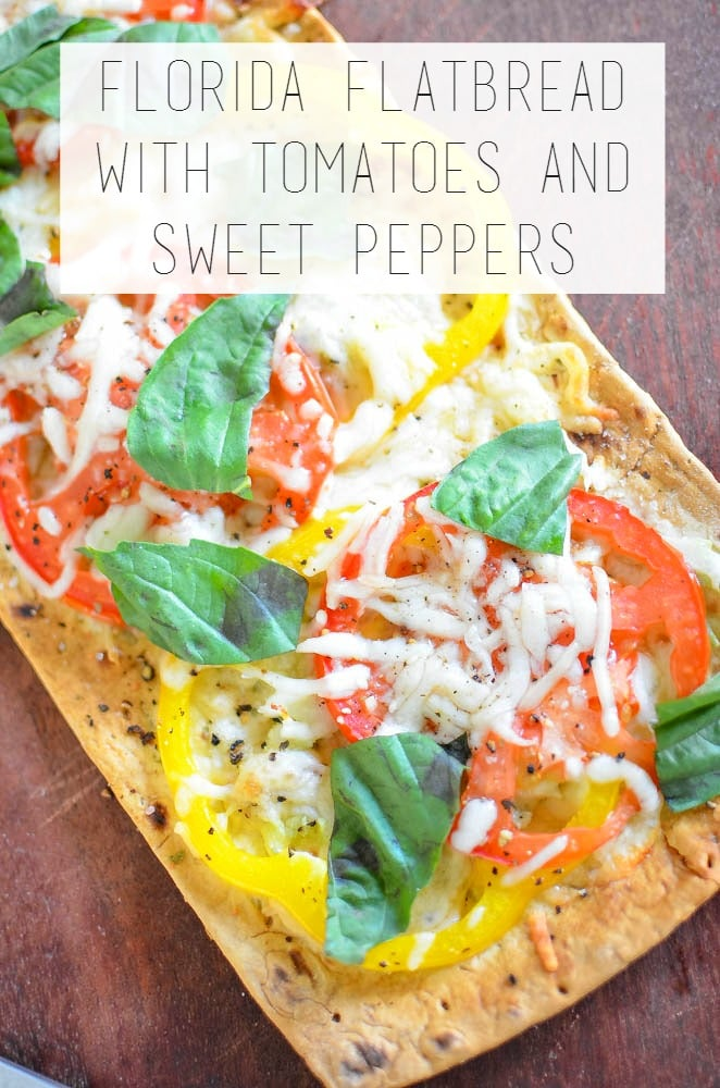 Fresh from Florida Flatbread with Tomatoes and Sweet Peppers