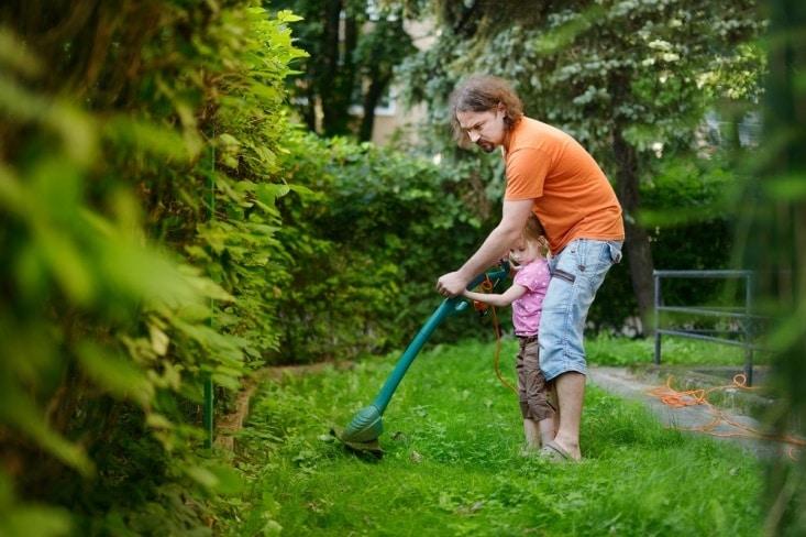 yard work with kids