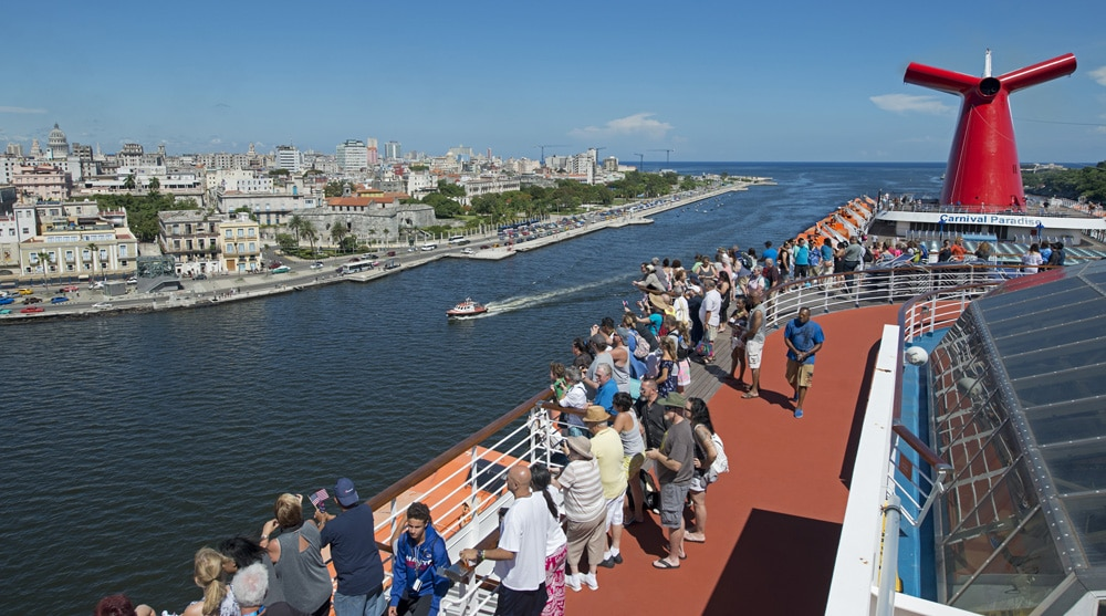 Carnival Paradise Sets Sail For Havana Cuba