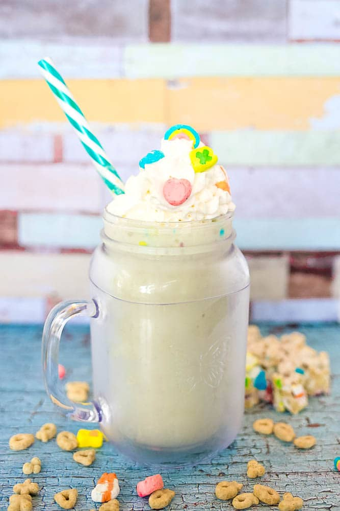 Lucky Charms Marshmallow Treat Shake