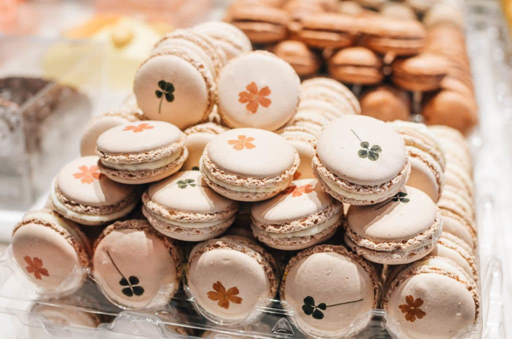 honey macarons in paris