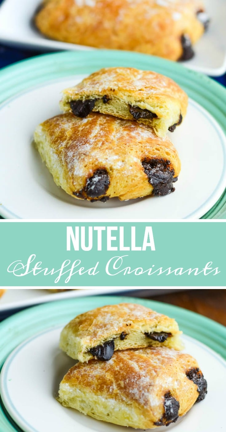 Nutella Stuffed Croissants Recipe