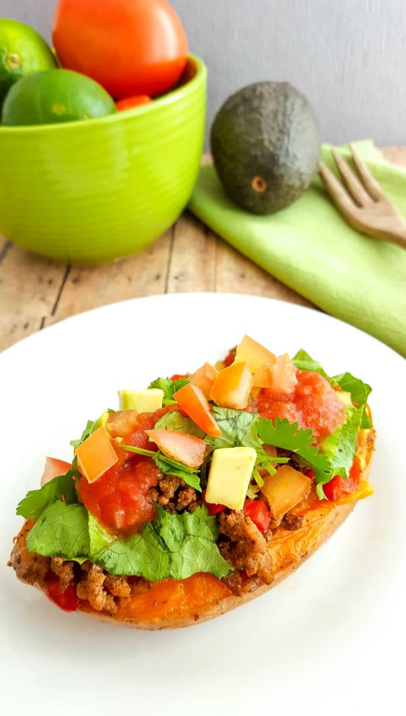 Taco Stuffed Sweet Potatoes Recipe
