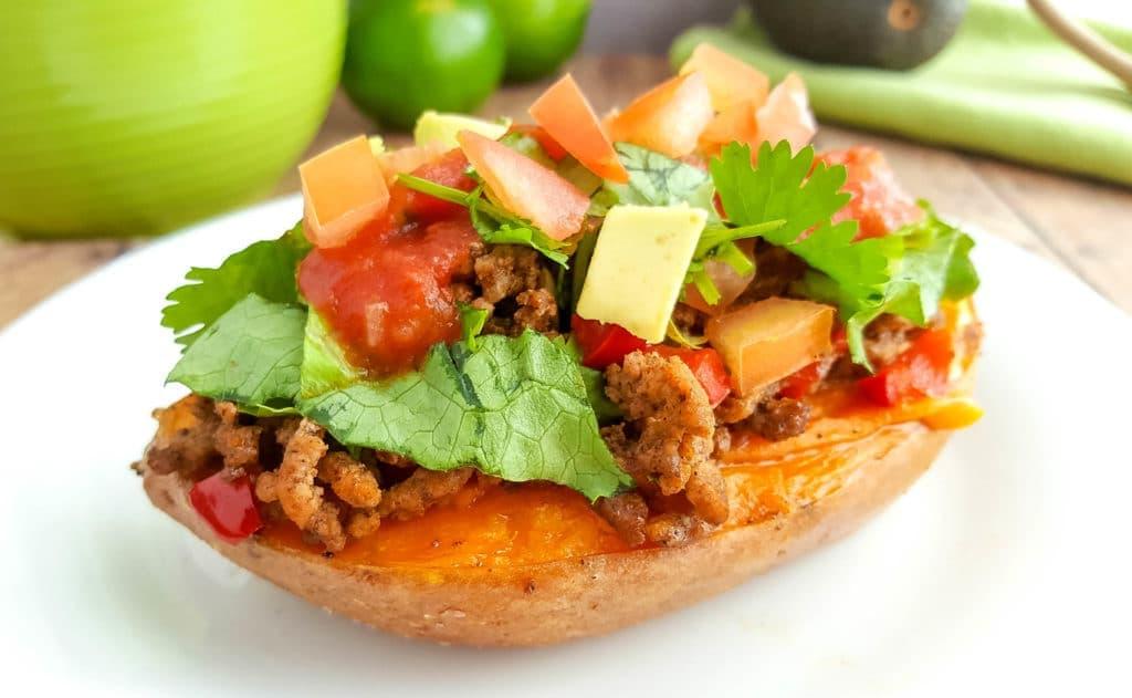 taco stuffed sweet potatoes