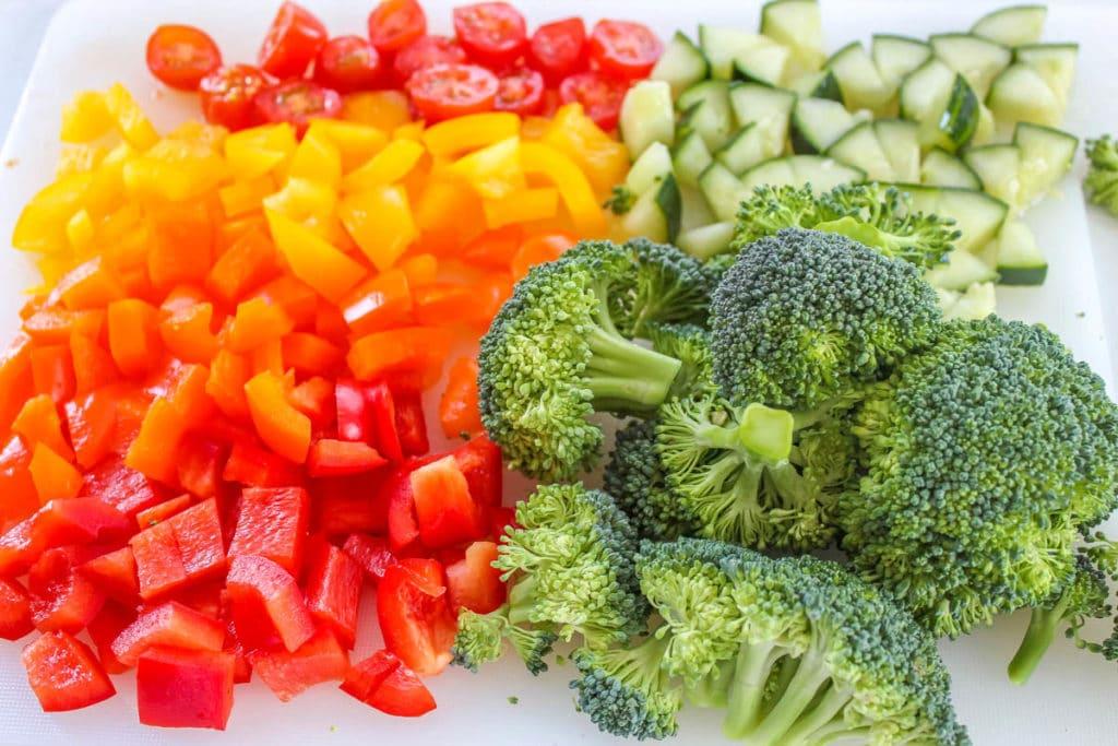 veggies for Crescent Roll Veggie Pizza