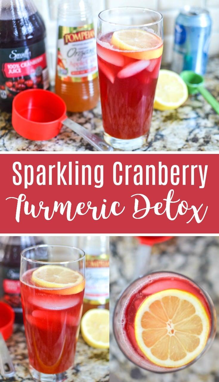 cranberry apple cider vinegar detox drink