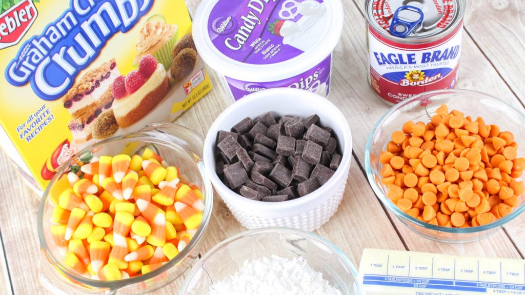 Candy Corn Magic Bars Ingredients