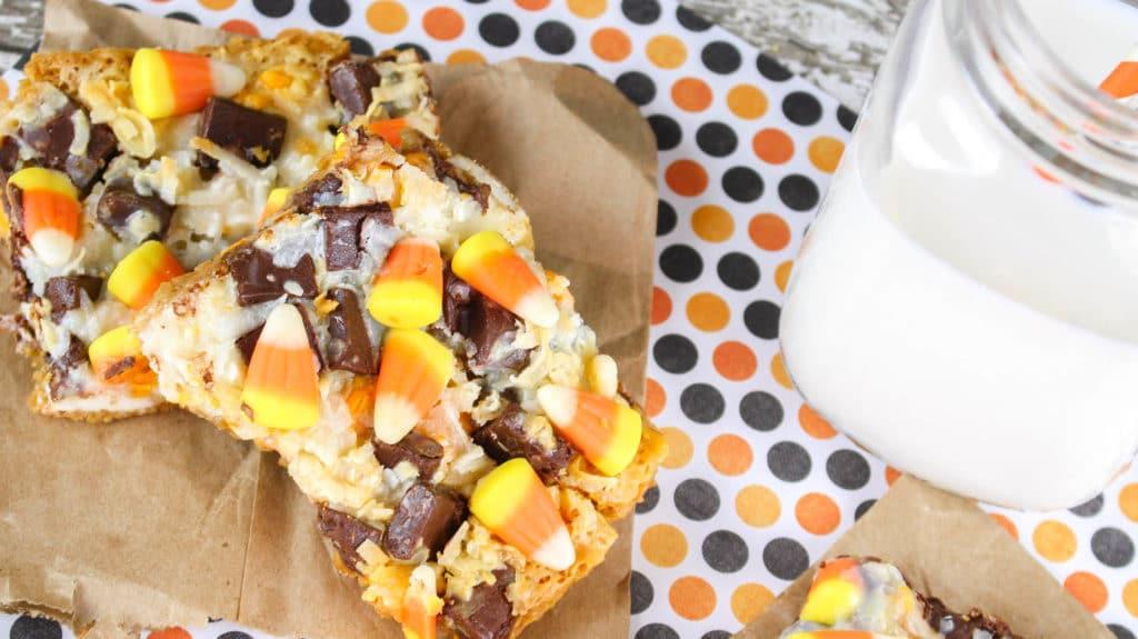Candy Corn Magic Cookie Bars Recipe