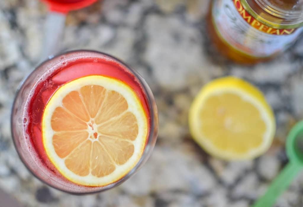 Sparkling Cranberry Turmeric Detox Drink Recipe