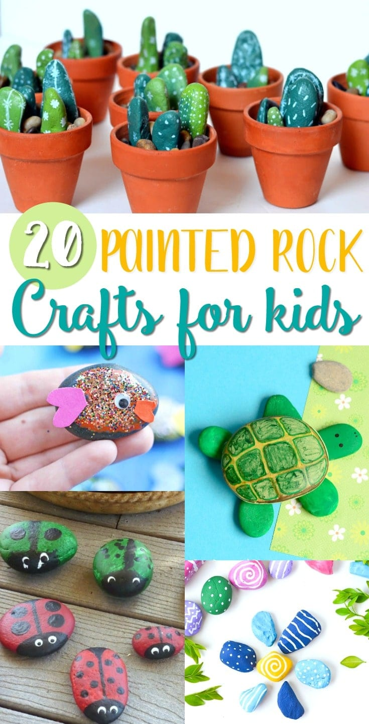 Painted Rock Crafts For Kids Ideas