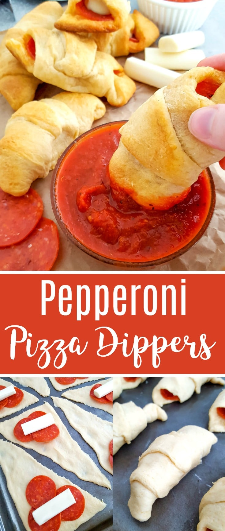 Crescent Roll Pizzas Pepperoni Pizza Dippers Recipe