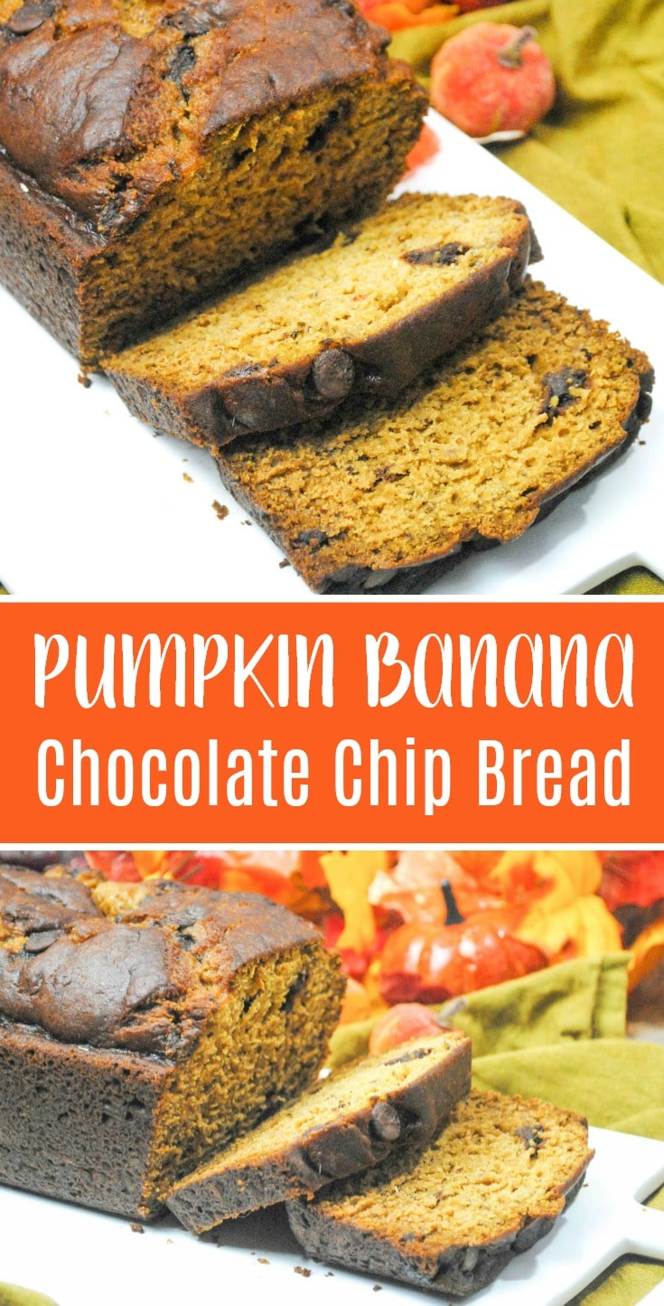 pumpkin banana chocolate chip bread recipe