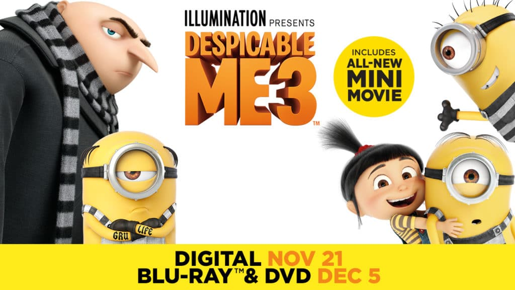 DESPICABLE ME 3 blu-ray dvd