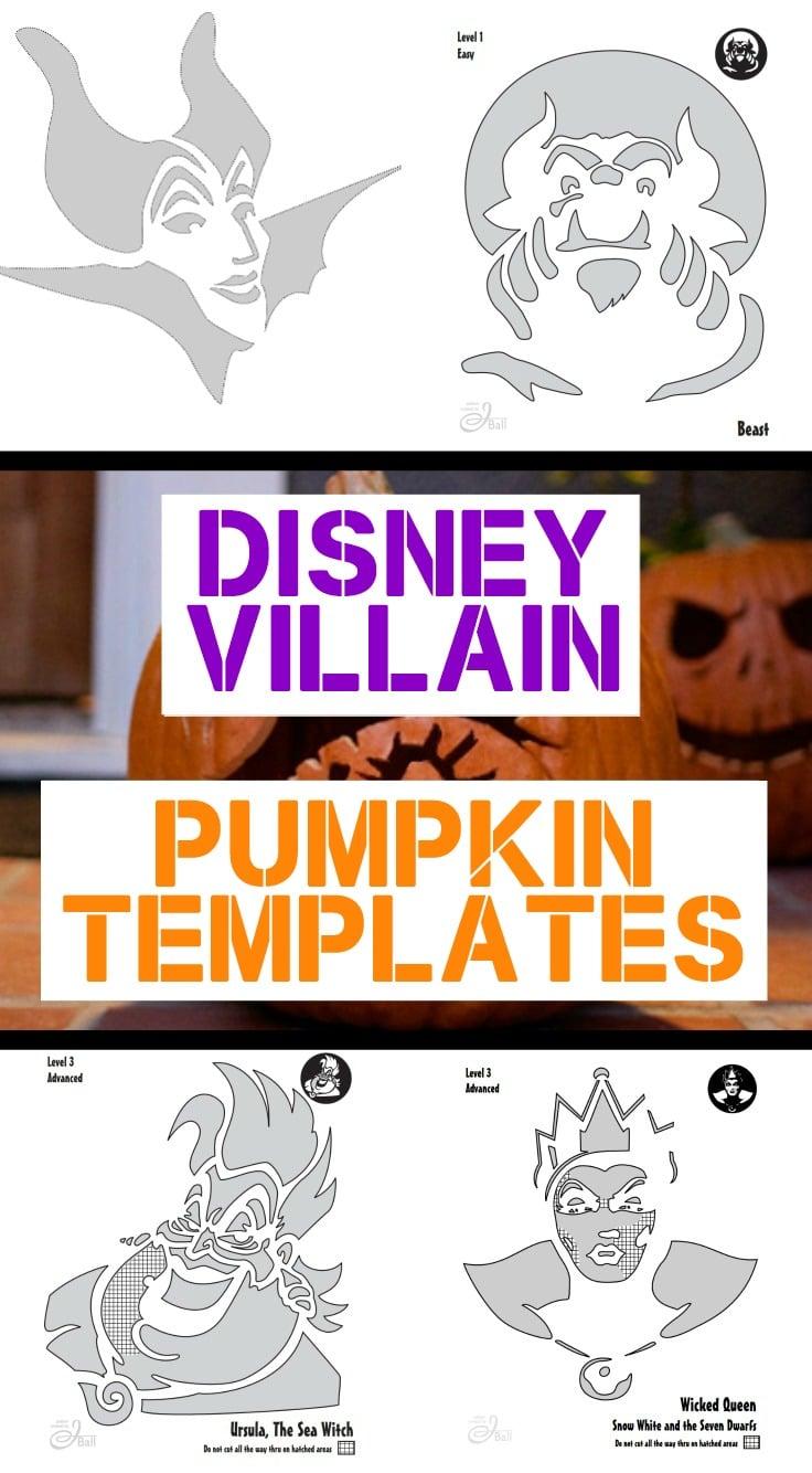 Disney villain pumpkin templates