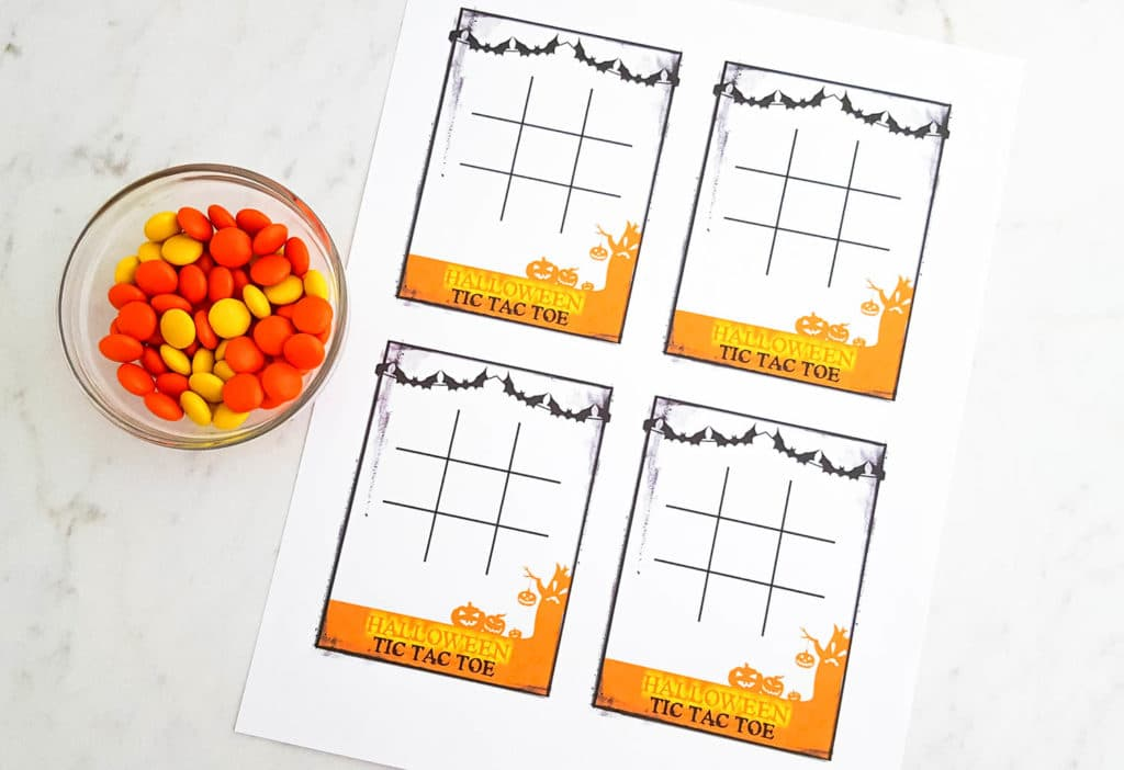 Free Halloween Tic Tac Toe Printable DIY