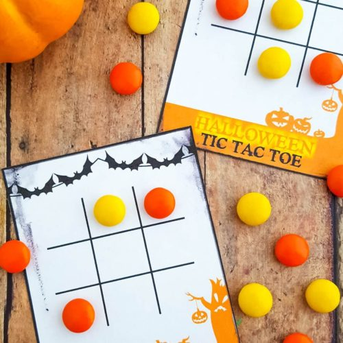 free printable halloween tic tac toe game cards