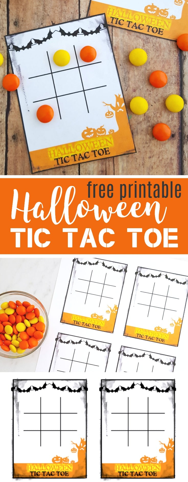 Free Halloween Tic Tac Toe Printable Game Cards
