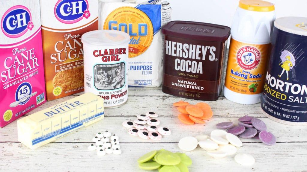 Halloween Thumbprint Cookies ingredients