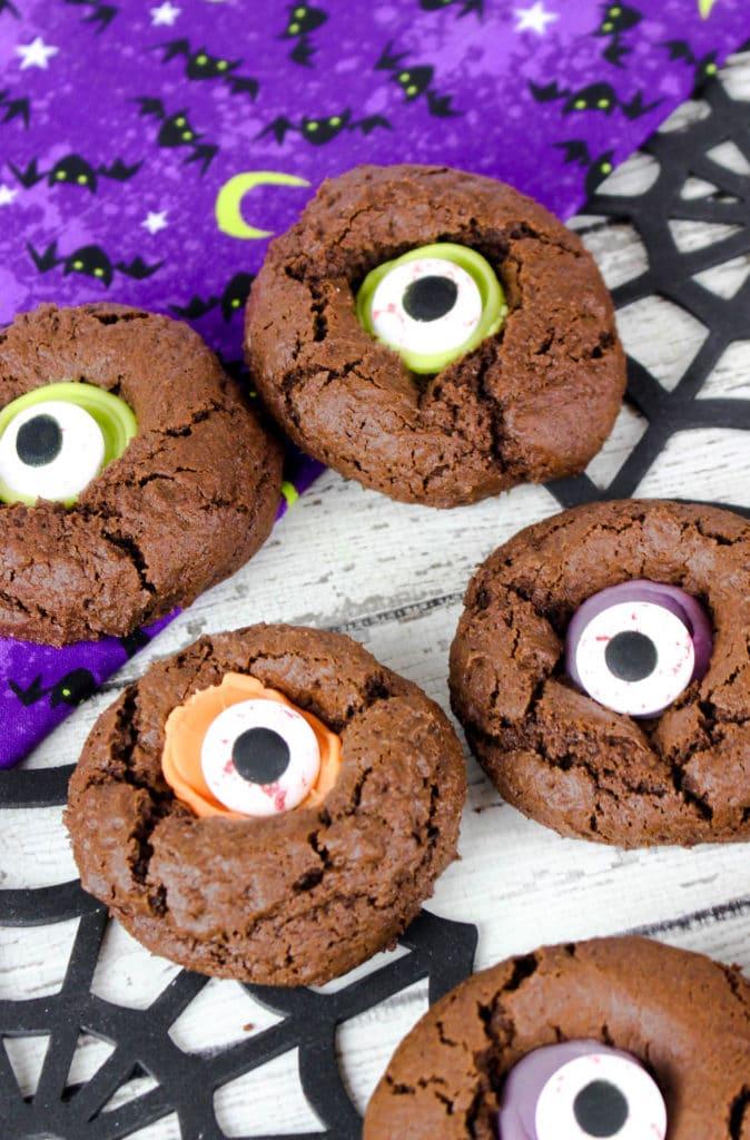 Monster Eye Cookies Recipe Halloween Thumbprint Cookies