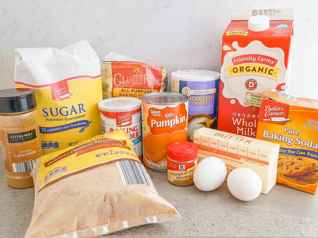 Baked Pumpkin Donuts Ingredients gluten-free