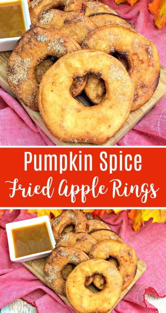 pumpkin spice fried apple rings