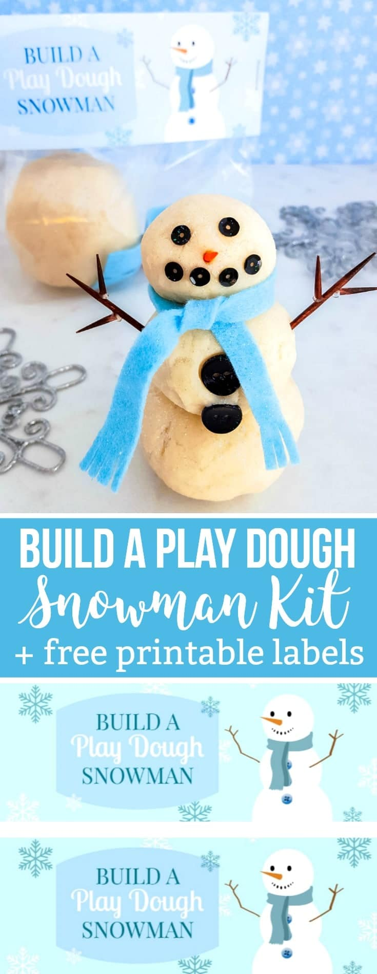 Build a Play Dough Snowman Kit