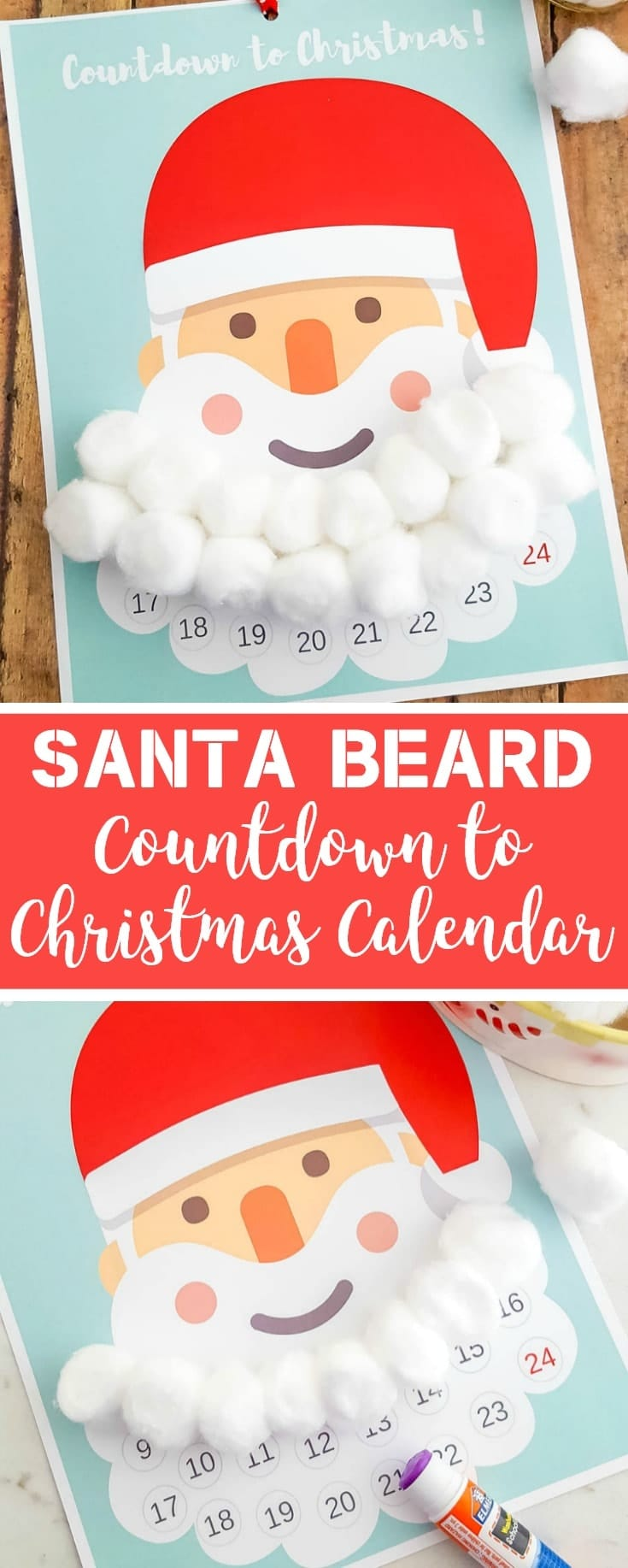 DIY Santa Beard Advent Calendar