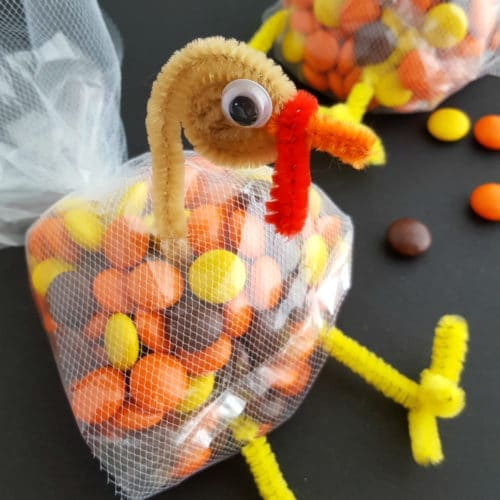 Thanksgiving Turkey Treat Bags for Kids
