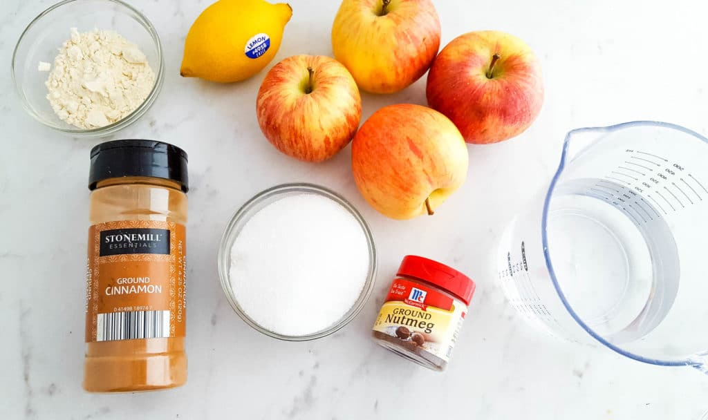 homemade apple pie filling ingredients