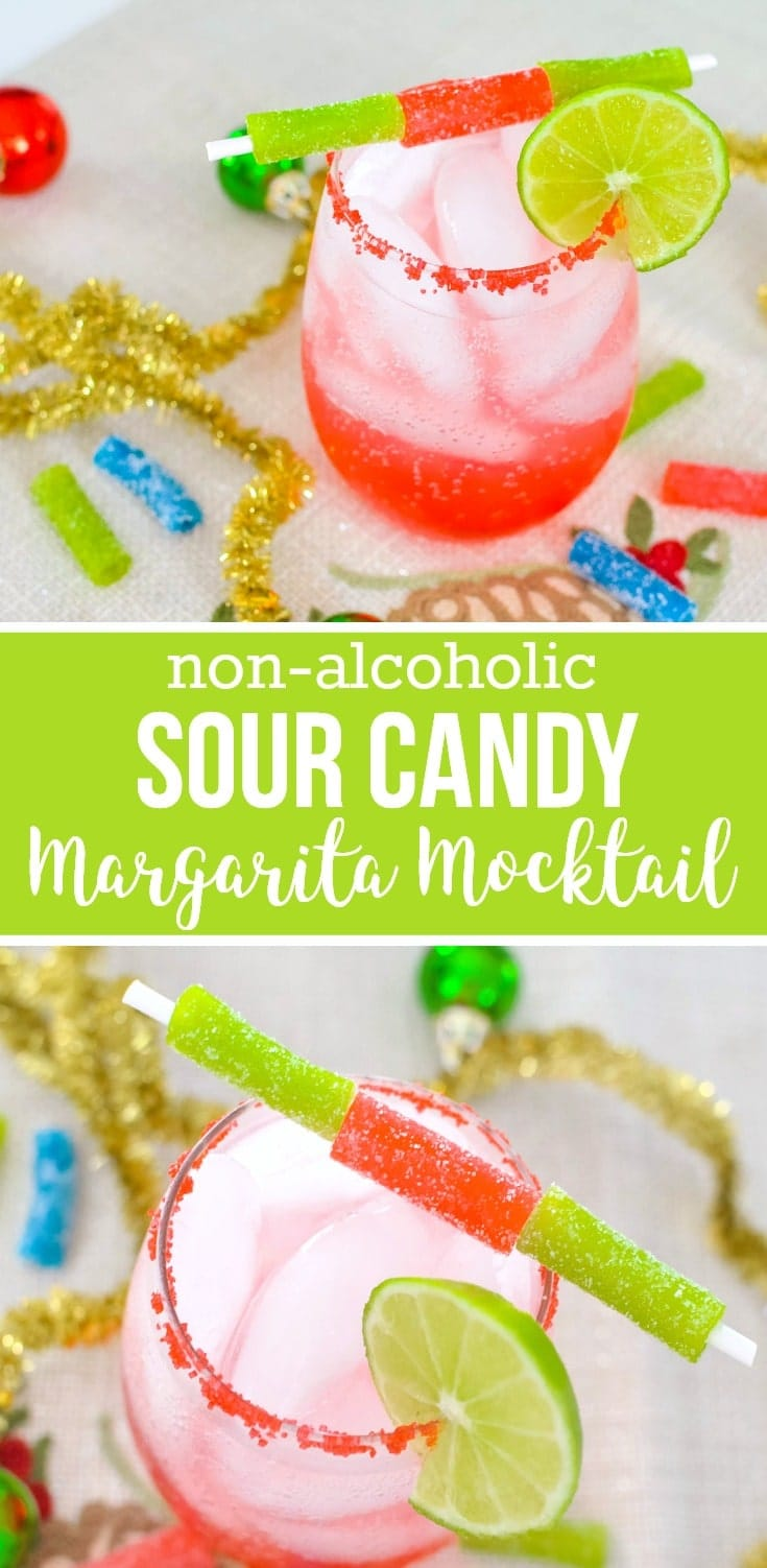 non-alcoholic sour candy margarita mocktail recipe